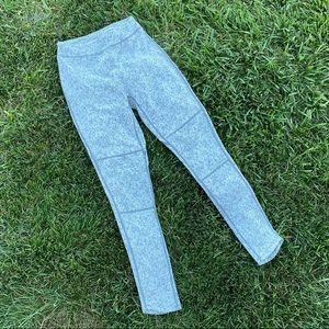 Gymshark fleur textured leggings grey marled pants